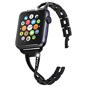 Greatfine Apple Watch Band Stainless Steel Metal Band for Apple Watch Series 2 Series 1