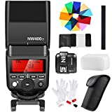Neewer 2.4G Wireless TTL HSS Master/Slave Speedlite Flash with N1T-F Flash Trigger,12-Piece Color Filters and Cleaning Kit for Fujifilm Mirrorless Digital Cameras Like X-Pro2,X-T20,X-T10,X-A3(NW400F)