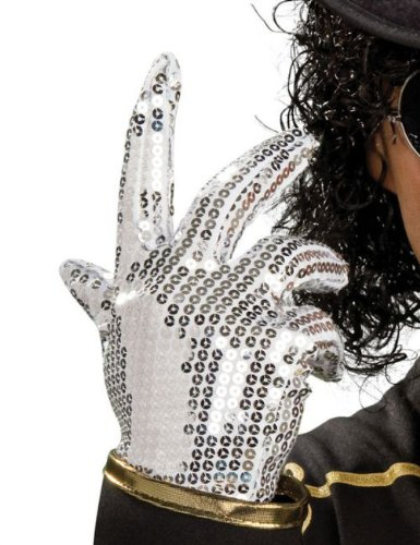 Michael Jackson Thriller Silver Sequins Kids Glove Halloween Costume Accessory -