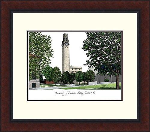Campus Images MI985LR University of Detroit, Mercy Legacy Alumnus Framed Lithographic Print ()