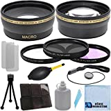 Pro Series 58mm 0.43x Wide Angle Lens + 2.2x Telephoto Lens + 3 Pieces Filter Sets with Deluxe Lens Accessories Kit for Canon T1i, T2i, T3, T3i, T4i, T5i, SL1, 30D, 40D, 50D, 60D, 70D, 5D, 1D, 5D Mark II, 5D Mark III, XT, XTi DSLR Camera and Other Models.