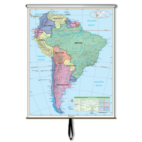 South America Essential Wall Map Roller (Essential Classroom Wall Maps)
