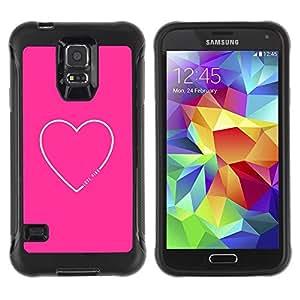 Suave TPU Caso Carcasa de Caucho Funda para Samsung Galaxy S5 SM-G900 / Heart Quote Love Text Minimalist / STRONG