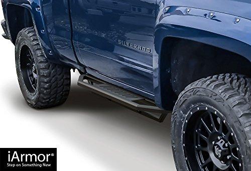 Steps Armor Custom Fit 2007-2019 Chevy Silverado/GMC Sierra Regular Cab (Incl. Diesel Models with DEF Tanks) (Excludes 07 Classic Models) (Nerf Bars | Side Steps | Side Bars) ()