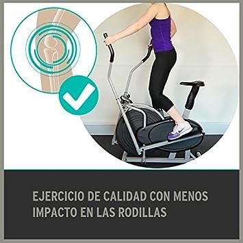 Bicicleta estática elíptica Fitfiu Fitness Steps: Amazon.es ...