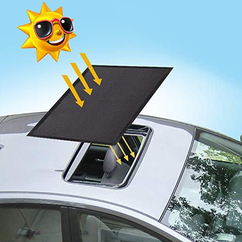 - ACUMSTE Sunroof Sun Shade Magnetic Net Car Moonroof Mesh 10 Seconds Quick Install Durable UV Sun Protection Cover for Baby Kids Breastfeeding When Parking on Trips- Black