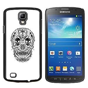 Stuss Case / Funda Carcasa protectora - Blanco Cráneo Sonrisa espeluznante muerte Negro - Samsung Galaxy S4 Active i9295