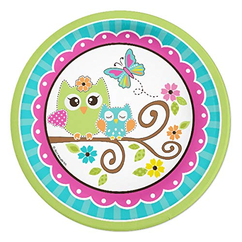 Owl Party 24 Count 7 inch Birthday Party Dessert Plates]()