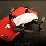 RC Drone Mini Selfie Pocket Drone Quadcopter with HD Camera Live Video Headless Mode with RC Toys for Kids & Beginners as gift (White, S9W)