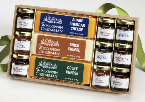 Jams, Jellies & Cheese Gift Box from Wisconsin Cheeseman