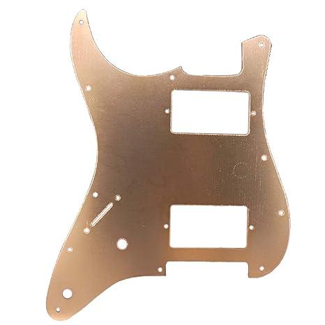 Homyl - Placa para rascar HH estilo Pickguard para guitarra eléctrica ST, dorado