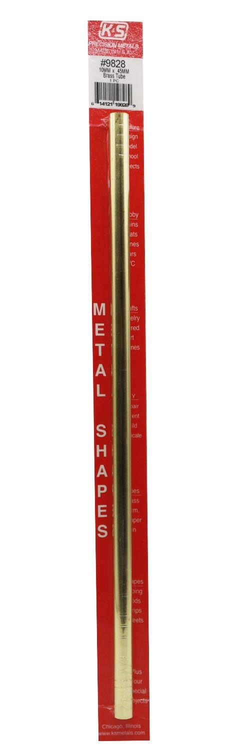 Model Number: KS9828 1 Piece per Pack Made in The USA 10mm O.D X .45mm Wall Thickness X 300mm Long K/&S Precision Metals 9828 Round Brass Tube