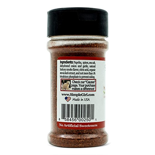 Simple Girl BBQ Seasoning - Sugar Free - Natural Herbs and Spices - Carb Free - Gluten Free - MSG Free - Diabetic Friendly - Compatible With Most Low Calorie Diets 3