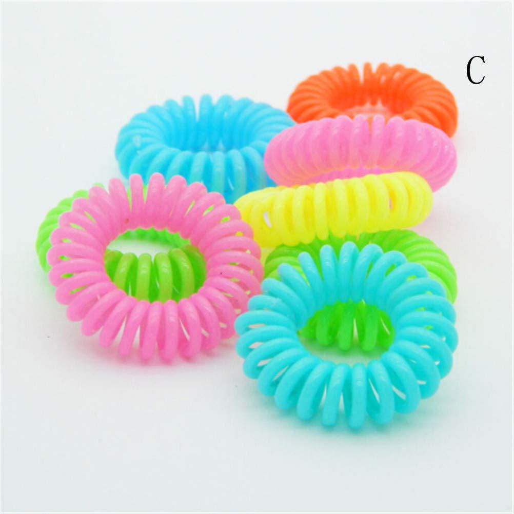 Amazon.com   wuyule 10 Pcs Plastic Spiral Hair Ties No Crease Coil Hair Tie  Ponytail Holders 0c16342efee