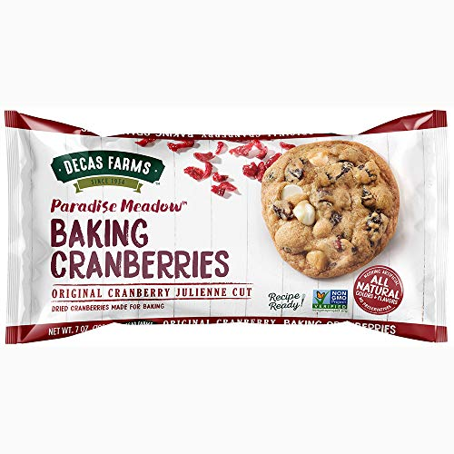 Paradise Meadow Julienne Cut Cooking and Baking Dried Cranberries, 7 -