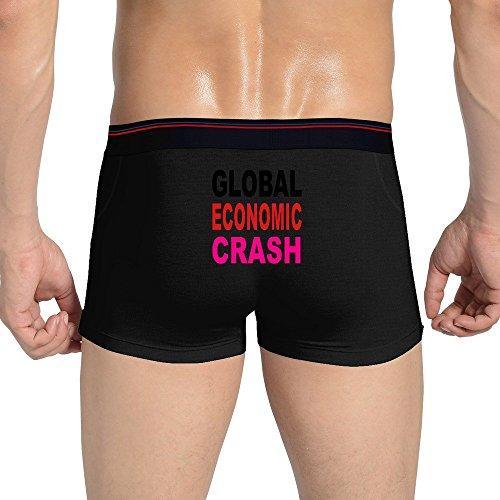 VOLTENN Sexy Economic Crash Seamless Stretchable Boxer Briefs For Fashionable Men Black L (Georgiana Duchess Of Devonshire Cause Of Death)