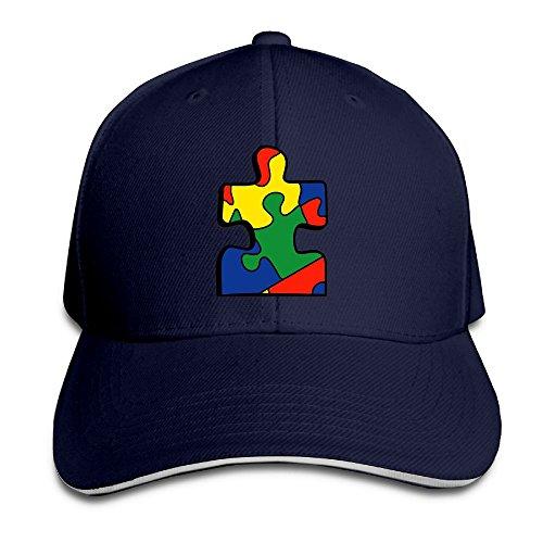Safan532 colorful Puzzle Logo Fashion Unisex Design Cotton Cap Adjustable Baseball Hat Caps Navy (Baby Halloween Costumes 2017 Uk)