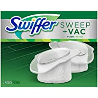 Swiffer Sweep and Vac Vacuum Replacement Filters, 2 Count (Pack of 8)