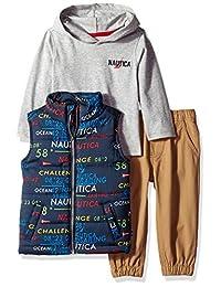 Nautica - Conjunto de 3 Pantalones Chaleco para bebé