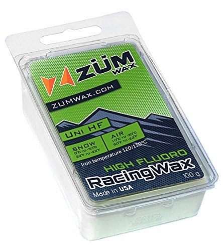 ZUMWax HIGH FLUORO RACING WAX Ski/Snowboard - All Temperature Universal - 100 gram - HIGH FLUORO RACING WAX at incredible price!!! Super-FAST!!! Environmentally Friendly & NON-TOXIC!
