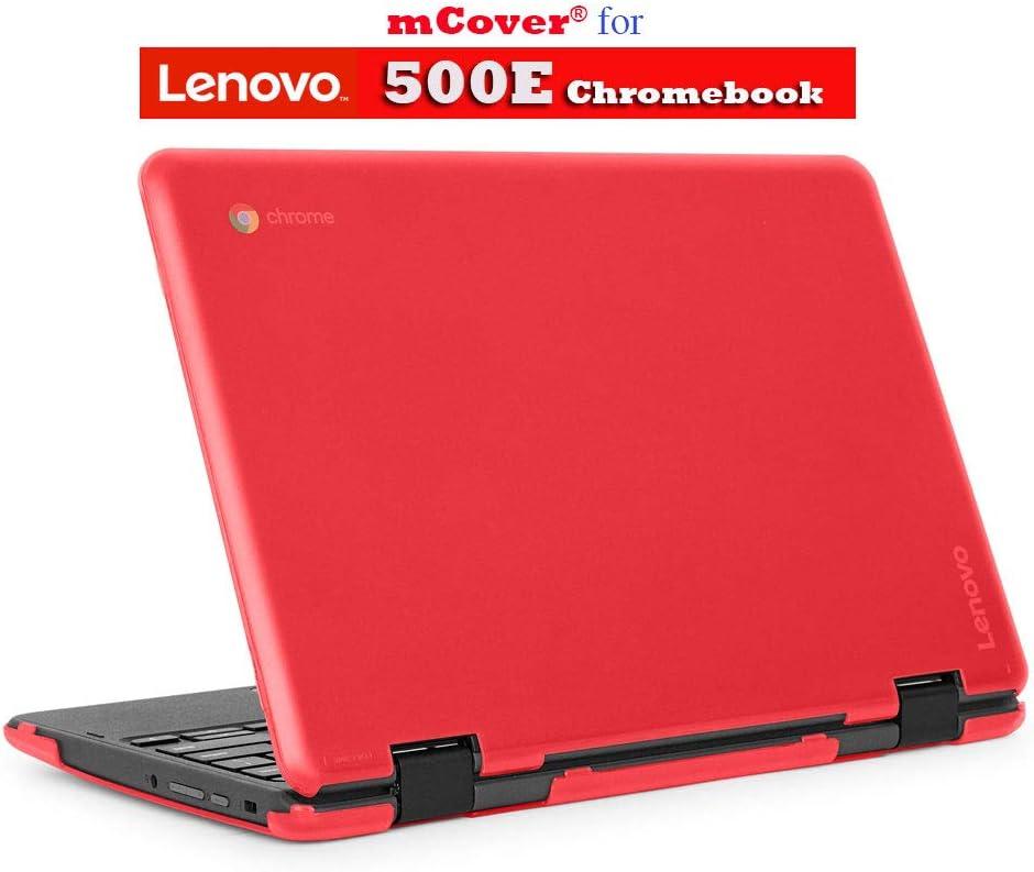 """mCover Hard Shell Case for 2018 11.6"""" Lenovo 500E series 2-in-1 Chromebook Laptop (NOT fitting Lenovo N21 / N22 / N23 /100E / 300E / FLEX 11 Chromebook) (C500E RED)"""