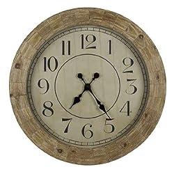 Cooper Classics Fairbanks Wall Clock