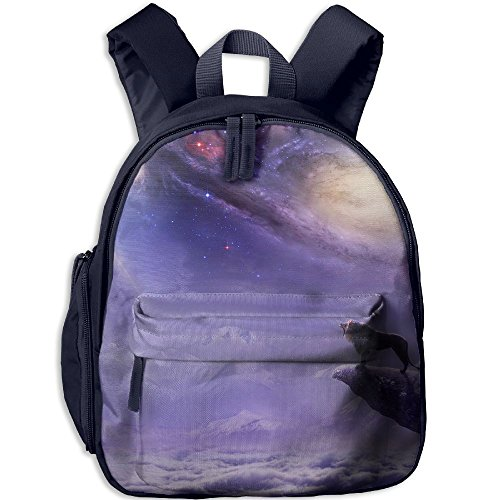 Children The Lion On The Background Of The Galaxy Preschool Bag Backpack Satchel Rucksack Handbag Navy by Fashion Theme Tshirt