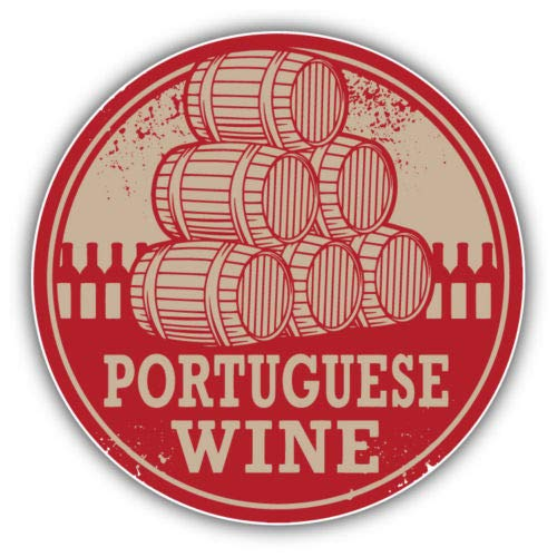 Craftmag Portuguese Wine Grunge Stamp Portugal Vinyl Sticker Decal Outside Inside Using for Laptops Water Bottles Cars Trucks Bumpers Walls, 5