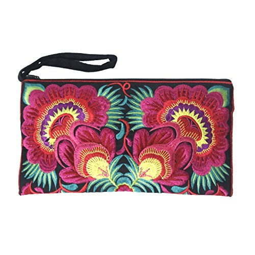Just Fab Purses - Sabai Jai - Floral Embroidered Boho