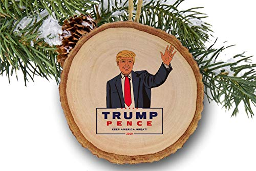 Trump Christmas Photo 2020 Amazon.com: Trump ornament for Christmas Tree, Trump 2020, Make