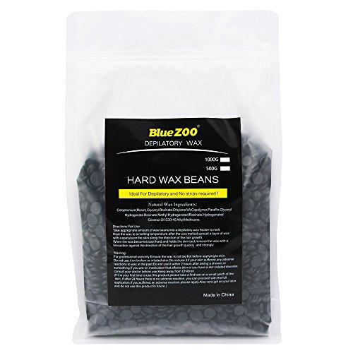 Bluezoo Brazilian Hard Wax Beads Depilatory Solid Hot Film Waxing Pellets for Body Bikini Hair Removal 1000g Black