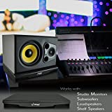 Sound Dampening Speaker Riser Foam - Audio Acoustic Noise Isolation Platform Pads Recoil Stabilizer w/ Rubber Base Pad For Studio Monitor, Subwoofer, Loud Speakers - Pyle PSI08
