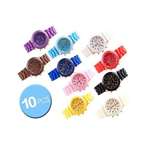 10 Pcs Geneva Jelly Silicone Rubber Water Resistant Men W...