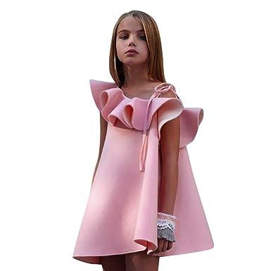 760c99e156242 DAY8 Robe Fille Cérémonie Mariage Princesse Robe Fille 1-6 Ans a la Mode Été