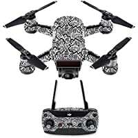 Skin for DJI Spark Mini Drone Combo - Abstract Black| MightySkins Protective, Durable, and Unique Vinyl Decal wrap cover | Easy To Apply, Remove, and Change Styles | Made in the USA