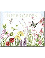 CounterArt Herb Garden Glass Cutting Board, 12 x 15 Inches