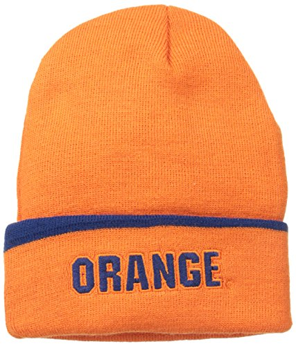 請求可能反応する自発的NCAA Syracuse Cuffed帽子、1サイズ、オレンジ