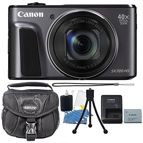 Cheap Canon PowerShot SX720 HS 20.3 MP 40X Optical Zoom Digic 6 Processor Wifi / NFC Enabled Digital Camera Black with Accessory Bundle