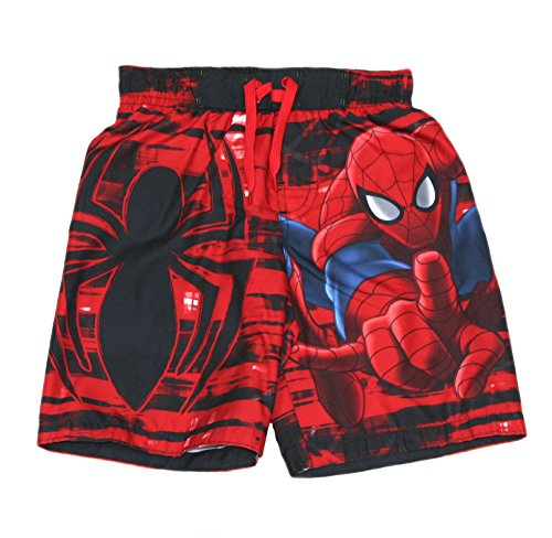 Spider-Man Marvel Boy's Swim Trunks Swimsuit (Red, L (6))