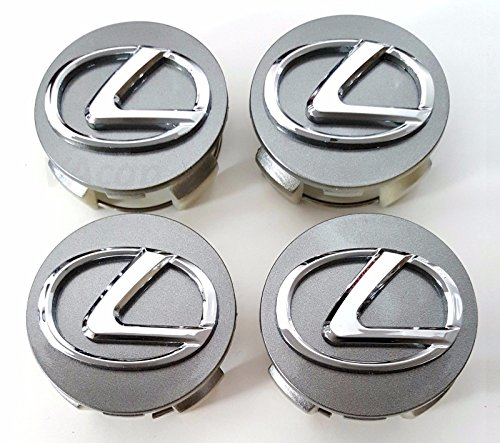 Gosweet Set of 4 Replacement Grey Hyper-Silver Wheel Centre Center Rim Hub Caps 62 mm Fit For Lexus GS IS ES RX SC HS 250 250C 250H 300 330 350 350C 430 Wheel Hub Caps (Wheel Silver Hyper)