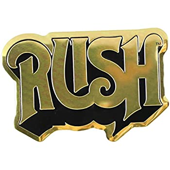 Cd visionary rush logo metal sticker gold 8cm