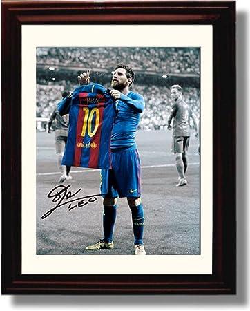 sale retailer 434fa 5ccad Framed Lionel Messi Autograph Replica Print - #10 Jersey - Spanish Club  Barcelona