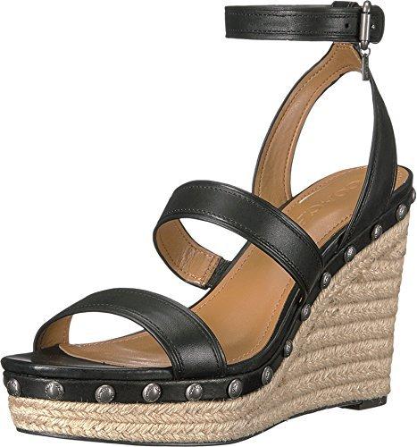 Coach Womens Flat Sandals, Black, Size 9.5