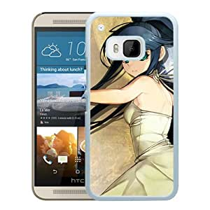 Popular And Unique Designed Cover Case For HTC ONE M9 With Girl Brunette Gloves Smile Background white Phone Case