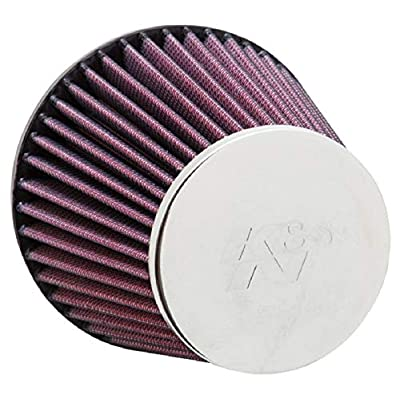 K&N Universal Clamp-On Air Filter: High Performance, Premium, Replacement Engine Filter: Flange Diameter: 2.375 In, Filter Height: 4.3125 In, Flange Length: 0.75 In, Shape: Round Tapered, RC-8300: Automotive