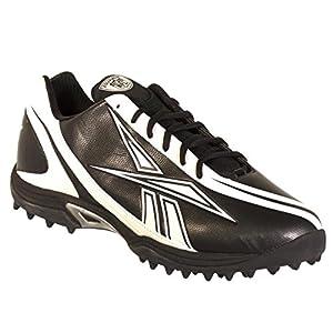 Reebok Pro Burner Speed Low Quag Men's Football Shoes Size US 12.5, Regular Width, Color Black/White