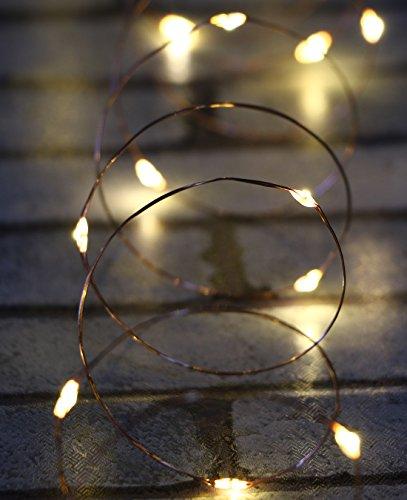 AnSaw 20-LEDs Paquete de 6 luces de botella Pro Spark I Cork en forma de batería Tira de luz Decoración Lámpara de cuerda para las vacaciones navideñas decorativas de temporada (blanco cálido)