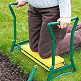 Garden Kneeler Planting and Weeding Foam Seat Stool with Foldable Arms