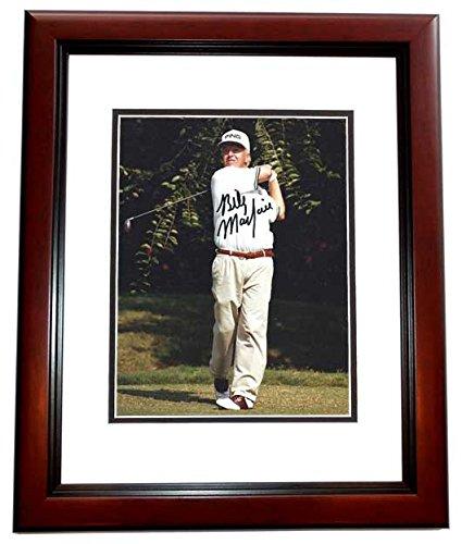 Mayfair Auto - Billy Mayfair Signed - Autographed Golf 8x10 inch Photo MAHOGANY CUSTOM FRAME