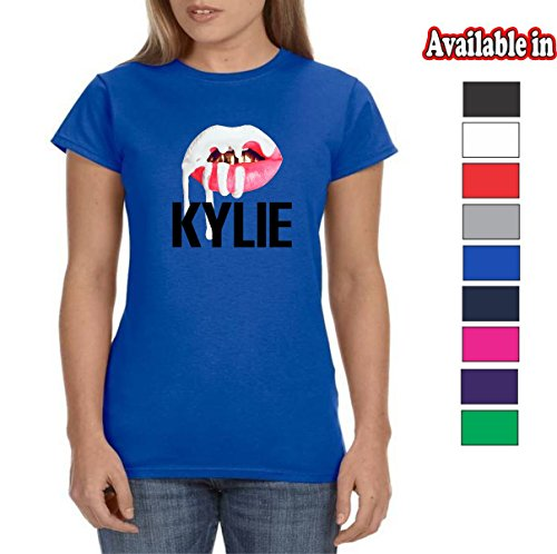 KYLIE JENNER LIPS LOGO T-SHIRTS HOODIES TANKS XL Ladies Jr Cut-Black (Shirt Sweatshirt Hooded Logo Hoodie)